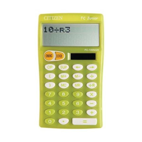 Calculator 10 digiti tastatura plastic alimentare baterie si solar 2 linii pe display functie REST - ideal pentru copii de scoala tasta stergere dimensiuni 129x76x17 mm greutate 88 g