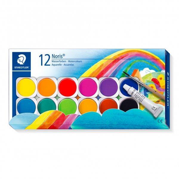 Set cu 12 capsule cu culori intershcimbabile1 tub cu vopsea alba de opacizarepensulacapac cu paleta pentru amestecareculori stralucitoareCapacitate mare de acoperireToate culorile se pot amesteca una cu cealaltaIn conformitate cu EN 71