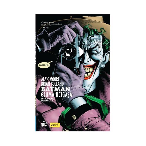 """"""" un portret tulbur&259;tor al celui mai mare du&537;man al lui Batman"""" - BooklistO zi proast&259;Asta e tot ce-i separ&259; pe oamenii s&259;n&259;to&537;i mintal de psihopa&539;i în viziunea lui Joker - o ma&537;in&259;rie de nebunie &537;i cruzime Abia eliberat din azilul Arkham Joker vrea s&259;-&537;i demonstreze punctul de vedere dement folosindu-se de comisarul Jim Gordon un om de frunte al poli&539;iei din Gotham &537;i de"""