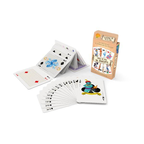 Pachet de carti de joc clasic cu 52 de carti grupate in 4 suiteInclude52 de carti de joc grupate in 4 suiteTrefla inima negra inima rosie caro cu valorile 1 2 3 4 5 6 7 8 9 10 valet dama popa asIncludesi 3 jokeriTotal 55 de carti