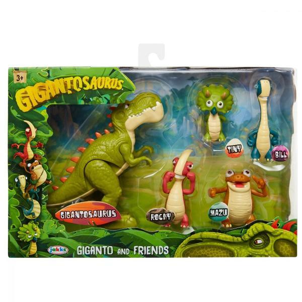 Pentru BaietiVarsta 3 - 4 ani 4 - 5 ani 5 - 7 ani 7 - 8 aniCuloare MulticolorBrand GigantosaurusMazu Bill Tiny si Rocky sunt cei mai buni prieteni si