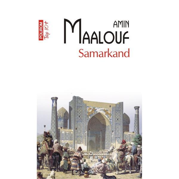 Pornind de la un pretext literar manuscrisulRubaiatelorlui Omar Khayyam cunoscutul poet persan Amin Maalouf reconstruieste inSamarkand un univers exotic de o frumusete tulburatoare populat cu personaje coborite parca dinO mie si una de noptispan