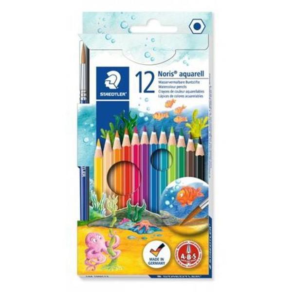 Creioane color in forma hexagonala cu mina tip acuarelOfera o gama larga de combinatii colore - de folosit si cu apa si pensulaMina foarte moale si bogat colorata12 culori