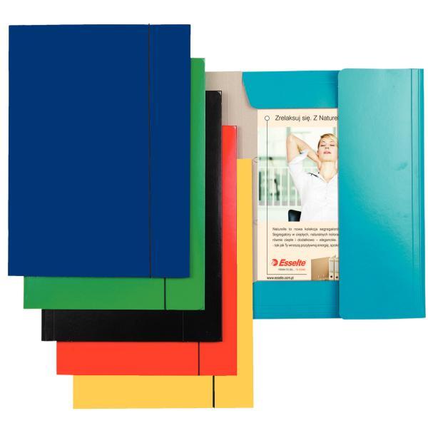 Mapa carton cu elastic Economy albastru inchis