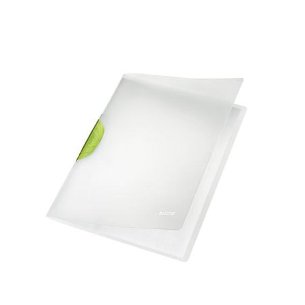 Dosar Leitz ColorClip de inalta calitate cu clips pentru prinderea a maxim 30 de coli neperforate Design modern si eficient pentru birou sau pentru atunci cand va deplasati la intalniriFabricat din polipropilena coperta translucidaClips cu forta mare de prindere pentru siguranta documentelorClips ergonomic pentru o manevrare facilaCoperta dura translucida si clips solidCapacitate 30 de coli A4 80 gsmDimensiuni  220mm x