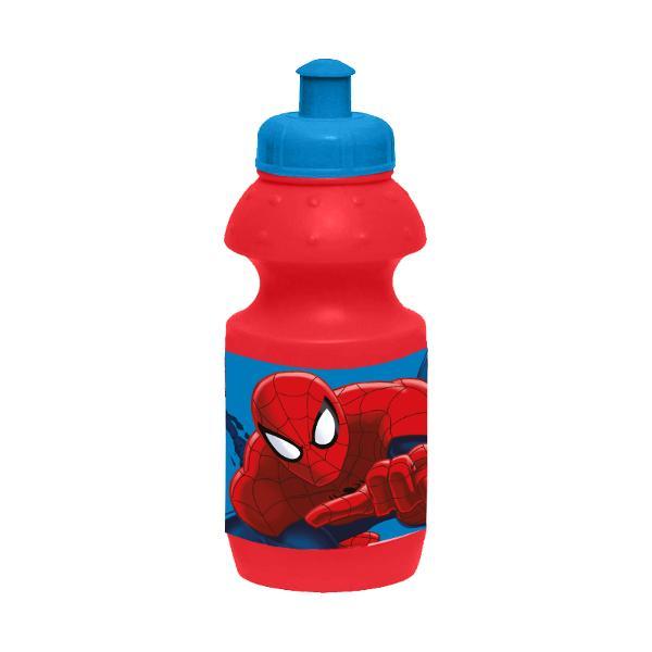 Recipient sport 350 ml SpidermanRecipient sport 350 ml Spiderman&160;este un minunat obiect din care va puteti savura bautura favorita Acest recipient este prevazut un dop de plastic in stil sportiv din care puteti sorbi fiecare picatura a&160;sticlei&160;de 350ml Desenele cu Spiderman&160;fac din acest recipient dragalas un accesoriu de nelipsit din ghiozdanul sau gentuta copiluluiDimensiune 7x18x7 cm