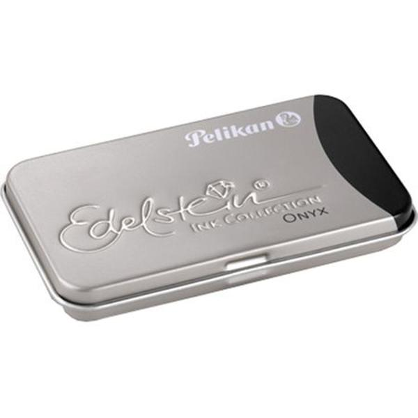 Cutie metalica pentru 6 patroane;Dimensiuni 81 x 49 x 09 cm;Capacitate patron cerneala 14ml;Utilizare cutie pentru orice model de patroane;Culoare cernealanegru