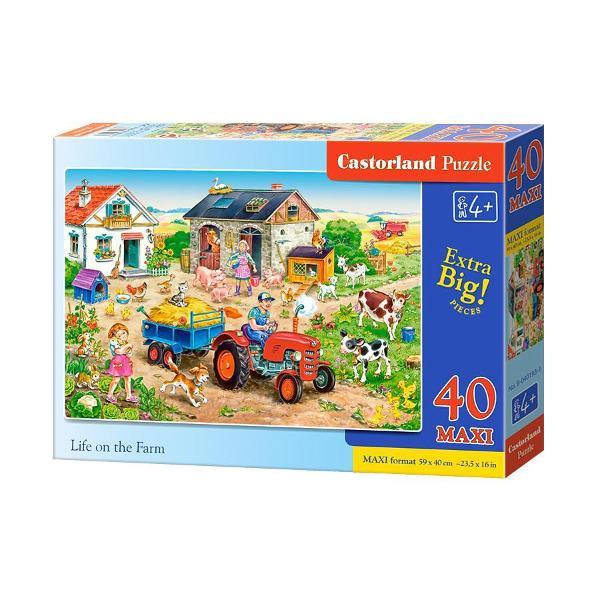 Puzzle de 40 de piese mari cu Viata la FermaDimensiuni Cutie 325×225×5cmdiv classcommerce-product-field commerce-product-field-field-puzzle-size field-field-puzzle-size