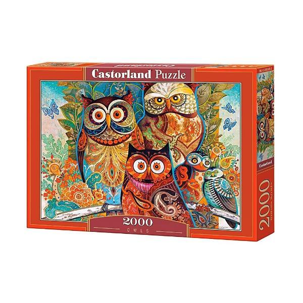 Puzzle cu 2000 de piese CastorlandUn puzzle de 2000 de piese fabricat in Polonia de Castorland Calitatea execptionala a pieselor si imaginea clara fac acest puzzle o alegere bunaCand este terminat puzzle-ul masoara 920 mm x 680 mmO imagine plina de culori vii cu bufnite