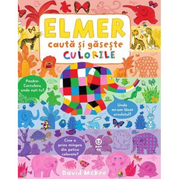 Al&259;tur&259;-te lui Elmer într-un joc de-a v-a&539;i ascunselea ca un curcubeu &537;i tr&259;ie&537;te aventuraFiecare pagin&259; con&539;ine una dintre culorile lui Elmer doldora de lucruri care te a&537;teapt&259; s&259; le descoperi de întreb&259;ri care caut&259; r&259;spuns &537;i detalii pe care s&259; le observi