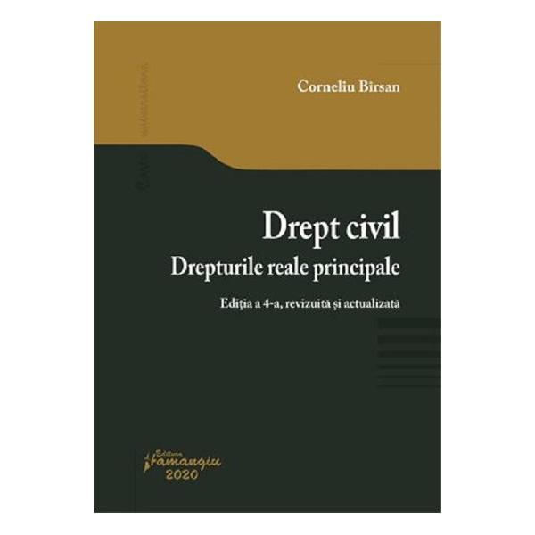 Sub semnatura bine cunoscuta a Profesorului Corneliu Birsan cursul Drept civil