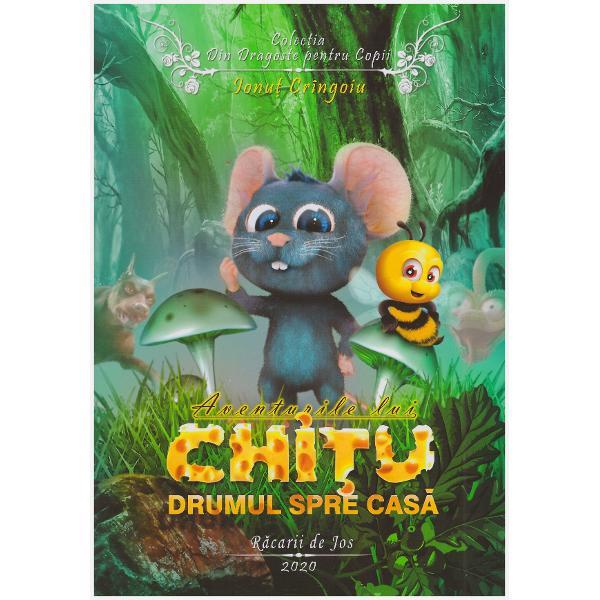 Aventurile lui Chitu - Drumul spre casa este o carte educativa cu islustratii 3D foarte atractiva care se adreseaza elevilor din clasele invatamantului primarPrecum celelalte carti din colectia Din dragoste pentru copii povestea ajuta la formarea unui caracter adecvat al copiilor in societate acestia lasandu-se inspirati de faptele si modul de comportare al soricelului Chitu
