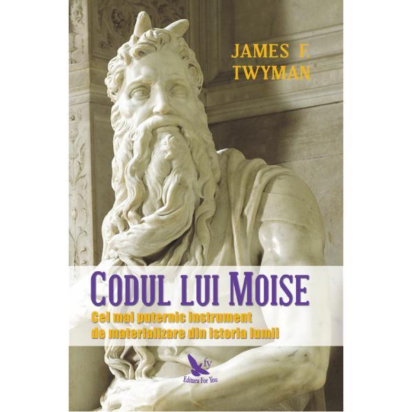 Codul lui Moise a fost folosit ini&539;ial pentru a crea unele dintre cele mai mari minuni din istorie dar apoi a fost ascuns &537;i numai pu&539;ini ini&539;ia&539;i au avut permisiunea s&259;-l practice În cartea de fa&539;&259; James F Twyman dezv&259;luie Codul pentru prima dat&259; ar&259;tând cum poate fi folosit pentru a ne schimba via&539;a &537;i chiar lumea&538;i s-a spus c&259; Legea Atrac&539;iei se refer&259; la