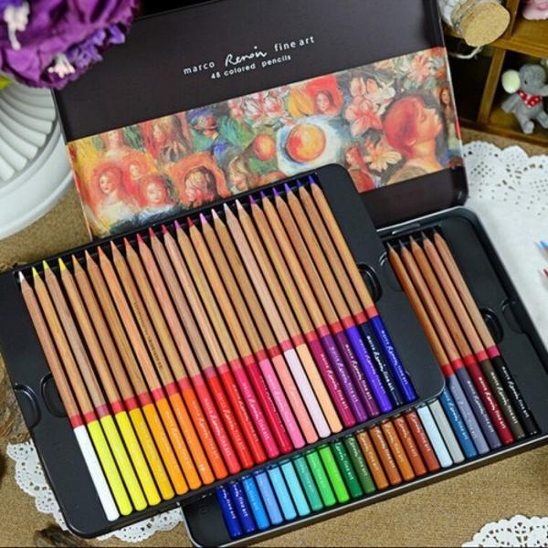 Set de creioane in cutie metalica eleganta- Set 48 culori- Diametru grif 37 mmNu sunt recomandate copiilor cu varsta sub 3 ani
