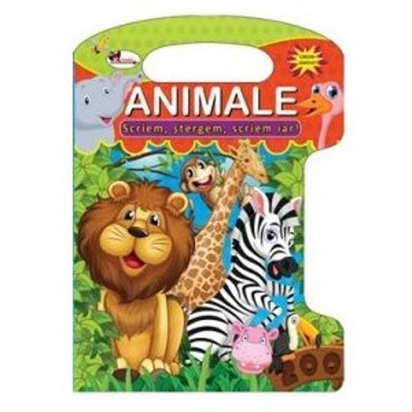 O carte amuzanta si educativa ideala pentru a-l ajuta pe copilul tau sa faca o incursiune in lumea minunata a animalelorMicutul este incurajat sa urmeze liniile punctate si descopera astfel in mod distractiv unele dintre cele mai indragite animale si mediul lor de viata in timp ce se deprinde cu folosirea creionului specialImaginile si activitatile variate contribuie din plin la educarea prin joacaCreionul special il ajuta sa scrie si sa stearga ori de cate ori