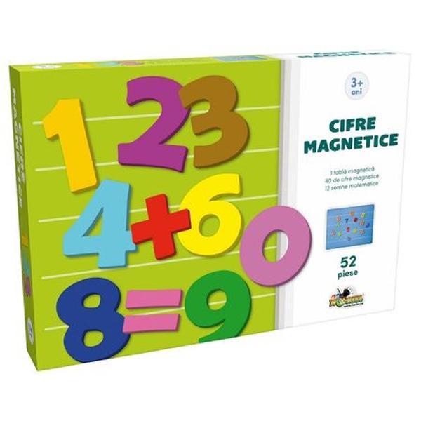 Ne jucam si invatamSe spune ca joaca este cel mai bun profesorDescopere cu acest set tainele cifrelor si a simbolurilor matematiceSetul contine- 40 de cifre magnetice;- 12 semne magnetice;- 1 tabla magneticaVarsta recomandata peste 3 ani