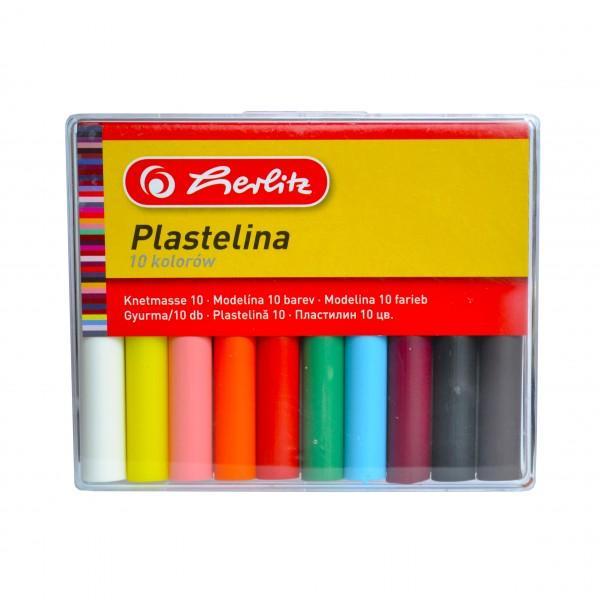 Plastilina pentru modelat    ambalat in cutie de platic    10 culori