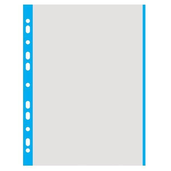 File din plastic A4- margini albastre 100 bucatiset Ambalaj punga din plastic