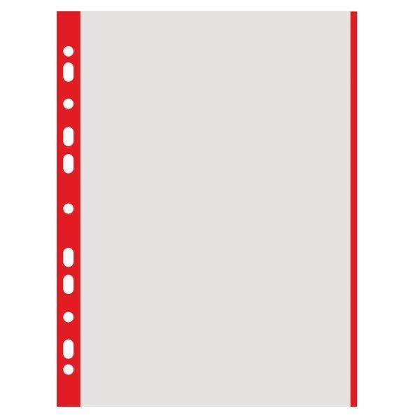 File din plastic A4- margini rosii100 bucatisetAmbalaj punga din plastic