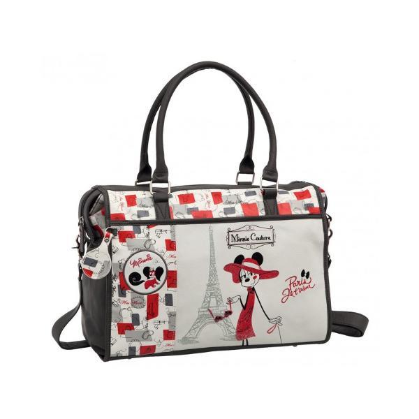 Geanta de voiaj Disney Minnie Couture cu 1 compartiment material piele ecologica imprimeu cu personajul Minnie maner fix manere fixe bareta ajustabila