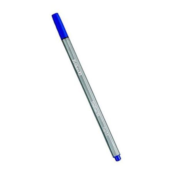 Forma ergonomica culoare albastru corp din material plastic gri varf 04 mm ambalat in cutie de carton