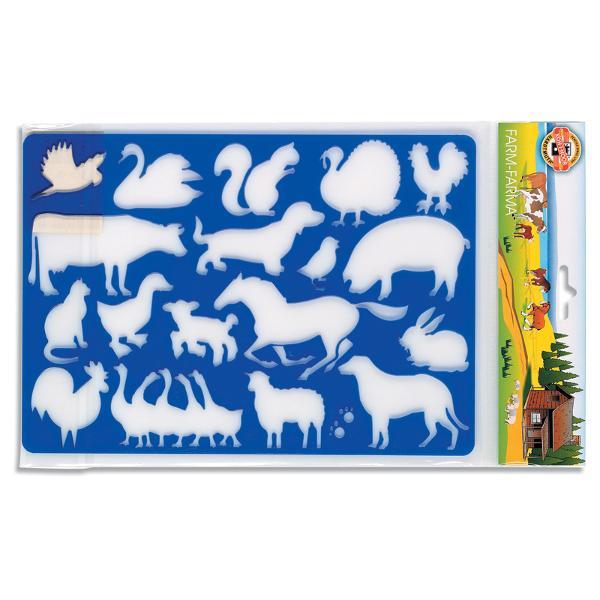 Detalii- sablon confectionat din material plastic cu diferite animale;- dimensiune 265x185 cm;- stimuleaza creativitatea si abilitatile motrice