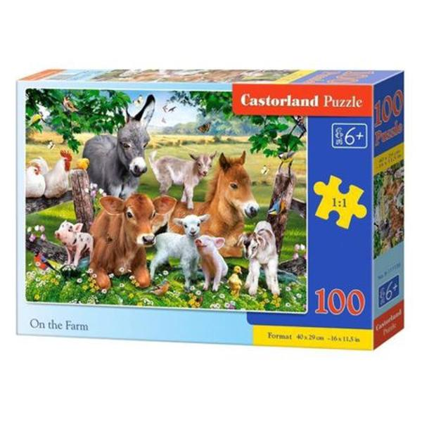 Puzzle de 100 de piese Dimensiuni cutie 325 × 225 × 5 cm