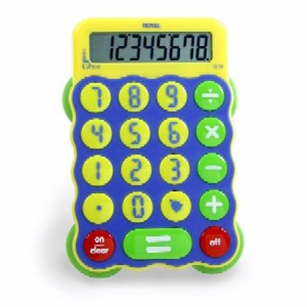 8-Digit Display Calculator• Battery powered with Auto Shut Off• Extra large keyboard for accurate data entry• Extra large Equal key