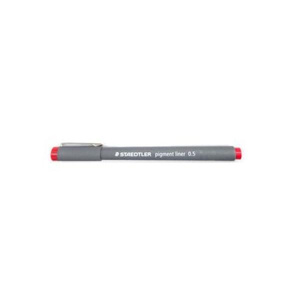 Acesta este folosit in special la scris cat si la grafica sau desenEste rezistent la apaNu se decoloreaza si nu poate fi stersCuloare rosuGrosimea varfului este de 05mm