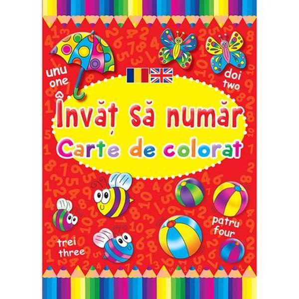 Colorati si invatati sa numarati in romana si engleza
