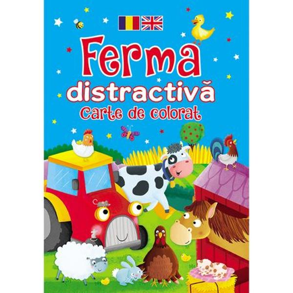Ferma distractiva Carte de colorat romano-engleza - Brown Watson