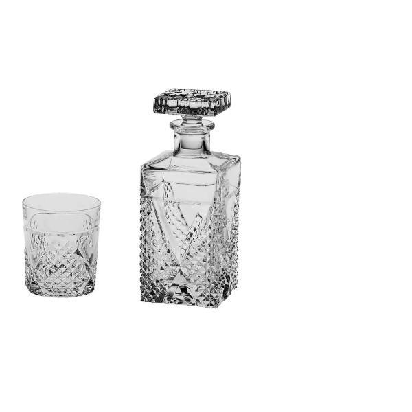 Set 6 pahare si Sticla pentru Whisky model MeganFabricate din cel mai fin Cristal de BohemiaVolum pahar cca 320 ml Volum sticla 700mlContinut plumb minim 24 PbO