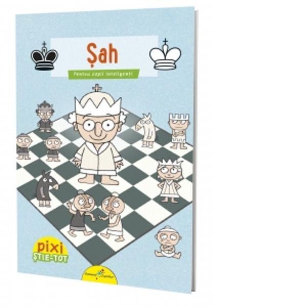 """Aceasta este o c&259;rticic&259; bine informat&259; &537;i amuzant&259; despre unul dintre cele mai cunoscute jocuri din lume care se bucur&259; de fani pe tot globulJocul de &537;ah este foarte vechi &537;i provine din India Se pare c&259; acolo se juca deja &537;ah înc&259; din secolul al IV-lea Jocul &537;i-a primit îns&259; actualul nume în Persia Cuvântul """"&537;ah"""" înseamn&259; în limba persan&259;"""