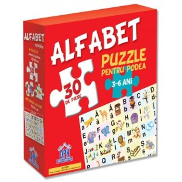 Cuprinde– 20 de piese– o plansa-alfabet 7050 cmJocuri educative în aer liber