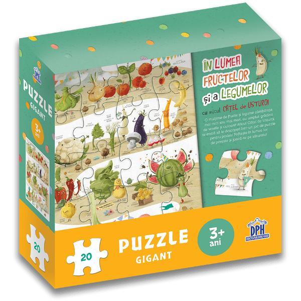 O mul&539;ime de fructe &537;i legume zâmb&259;re&539;e mai mici sau mai mari au umplut gr&259;dina de veselie &537;i culoare Micul C&259;&539;el de Usturoi te invit&259; s&259; le descoperi într-un joc de puzzle pentru podea Pofte&537;te în lumea lor de poveste &537;i joac&259;-te pe s&259;turateSpecifica&539;iiVârst&259; 3 aniPiese 20Plan&537;&259; 1M&259;rimi plan&537;&259; 68 x 48