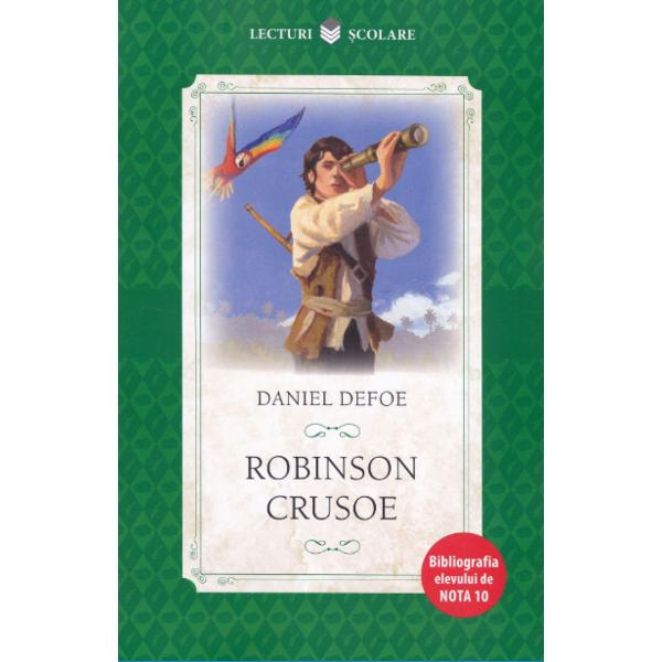 """Capodopera a literaturii pentru copii si adolescenti Robinson Crusoe ramane si astazi o carte fundamentala a primelor lecturi Creata in 1719 ea a leganat copilaria multor generatii fiind raspandita pe toate meridianele lumiiJean-Jaqcues Rousseau considera romanul un «excelent tratat de educatie» iar André Malraux il asaza pe inaltimile atinse de Cervantes si de Dostoievski Mereu vie cartea luiDaniel Defoene invata sa fim"