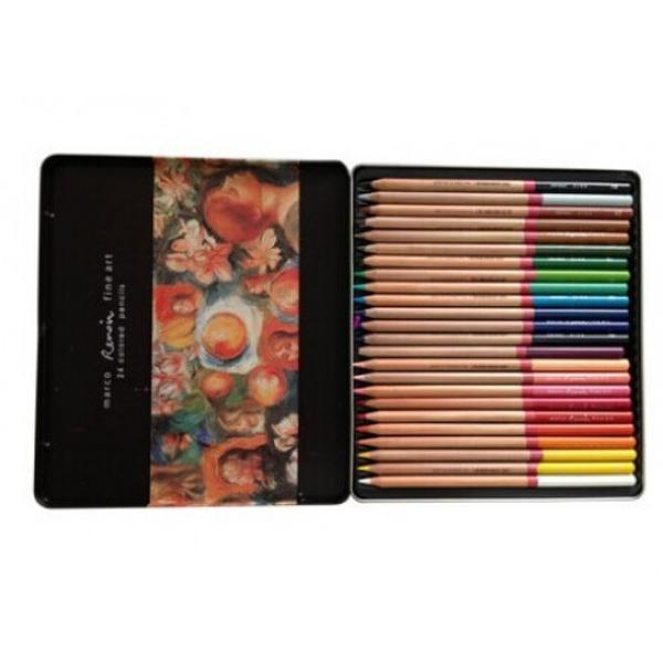 Set de creioane in cutie metalica eleganta- Set 24 culori- Diametru grif 37 mmNu sunt recomandate copiilorcu virsta sub 3 ani