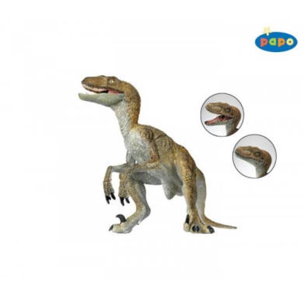 Figurina Papo - VelociraptorJucarie educationala realizata manual excelent pictata si poate fi colectionata de catre copii sau adaugata la seturile de joaca cum ar fi animale preistoriceetc Un excelent stimulent pentru a extinde imaginatia copiilor dezvoltand multe oportunitati de joacaNu contine substante toxiceVarsta 3 ani