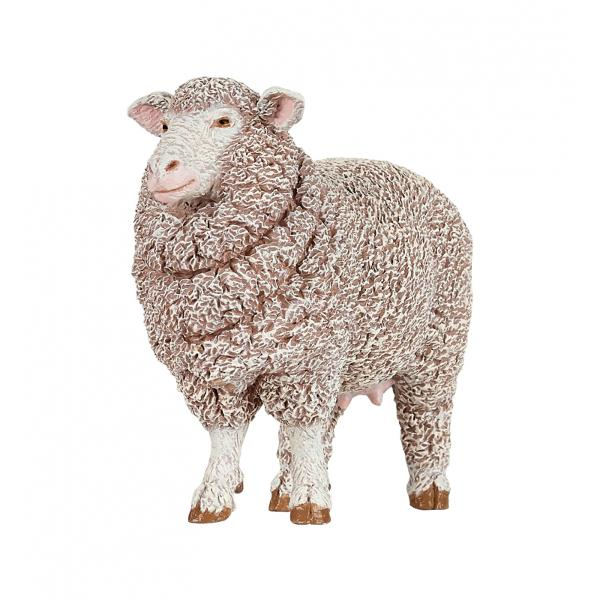 Oaie Merinos - Figurina PapoFigurina PapoOaie Merinos reda infatisarea unei oi din rasa Merinos Detaliile Figurinei Oaie Merinos te cuceresc si satisfac si cele mai inalte exigente legate de miniaturiLana deoaie merinosare o protectie UV incredibila naturala construita chiar in interior ceea ce