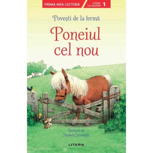 Poppy &351;i Sam au g&259;sit un ponei pe câmpul din apropierea fermei Livada de meri Oare îl vor putea ajuta Alf&259; ce se va întâmpla în aceast&259; nou&259; aventur&259; la ferm&259; a celor doi copii &351;i rezolv&259; activit&259;&355;ile de la sfâr&351;itul pove&351;tiiPrima mea lectur&259;este o colec&539;ie special creat&259; pentru a-i ghida pas cu pas pe pre&537;colari &537;i pe
