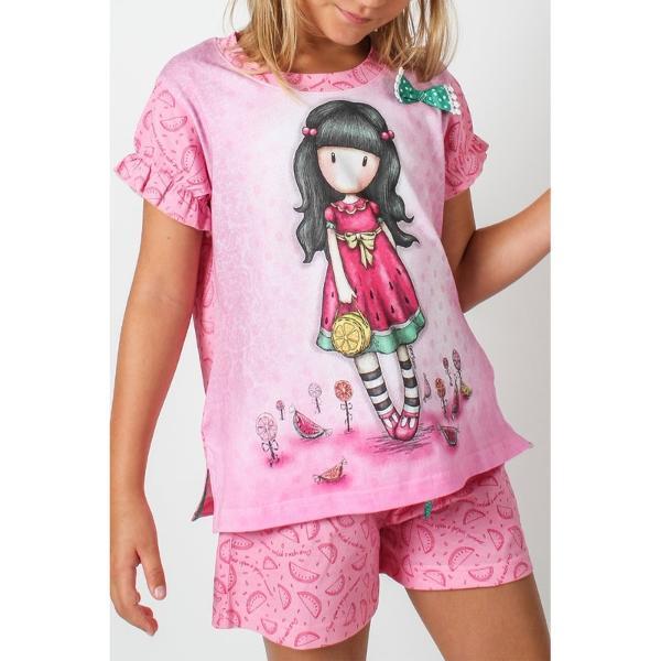 Pijama copii Gorjuss Every Summer Has A Story scurte cu tricouPijama copii Gorjuss Every Summer Has A Story scurte cu tricou&160;este alegerea perfecta pentru cea mai cool pijama Alege Every Summer Has A Story pentru o vara plina de culori perfecte si haine comode din bumbac 100 Acest model de pijama este ideal pentru aceasta vara Foarte colorata in ton cu vara Every Summer Has A
