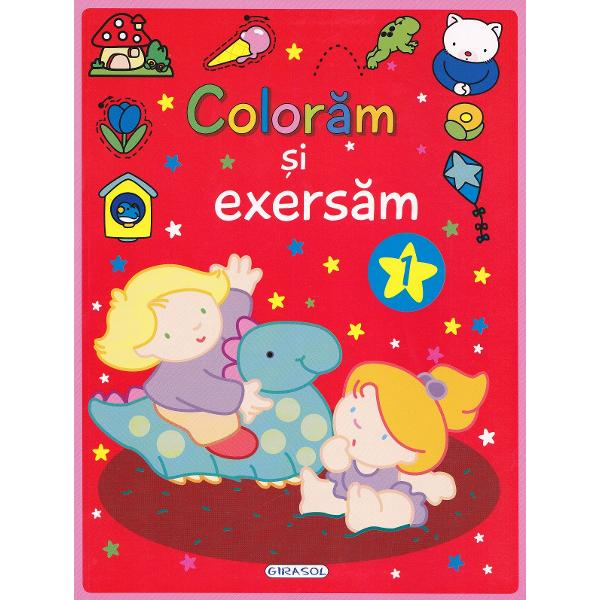Recapituleaza coloreaza si invata cu aceasta carte distractiva plina de imagini simpatice totul in culori