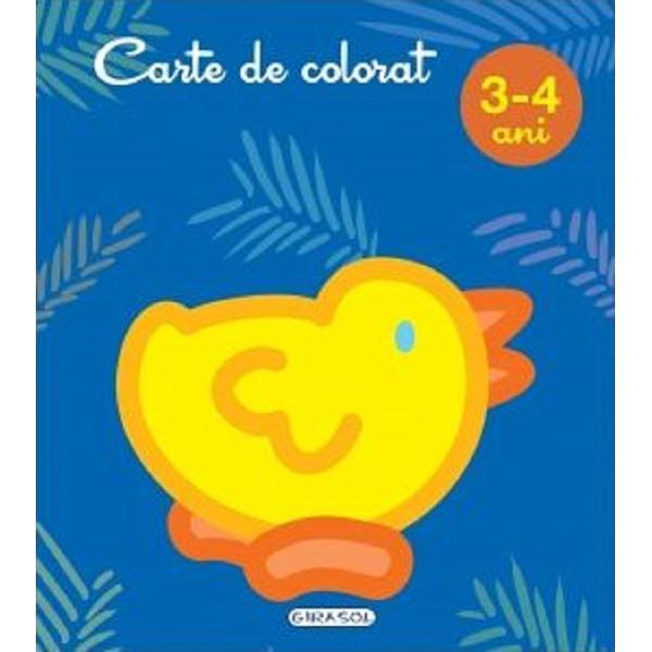 Carte de colorat ce contine ilustratii mari cu contur precis si gros pentru a fi usor de colorat si de cei mai miciIdeala pentru micutii creativi
