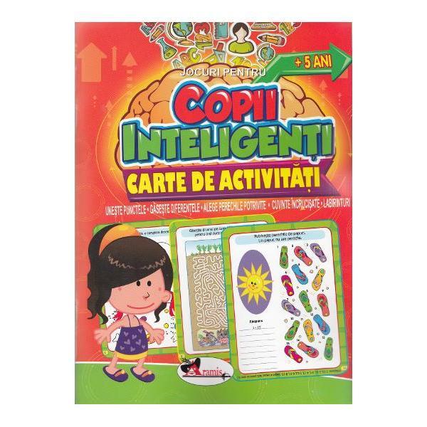 """Jocuri pentru copii inteligen&539;i – O serie de 5 c&259;r&539;i pe niveluri de dificultate de la 1 la 5 cu un bogat con&539;inut de activit&259;&539;i antrenante jocuri de tip une&537;te punctele g&259;se&537;te diferen&539;ele alege perechile potrivite cuvinte încruci&537;ate labirinturi &537;i multe altele Aceste """"b&259;t&259;i de cap"""" distractive vor captiva copiii &537;i le vor dezvolta abilit&259;&539;ile de înv&259;&539;are"""