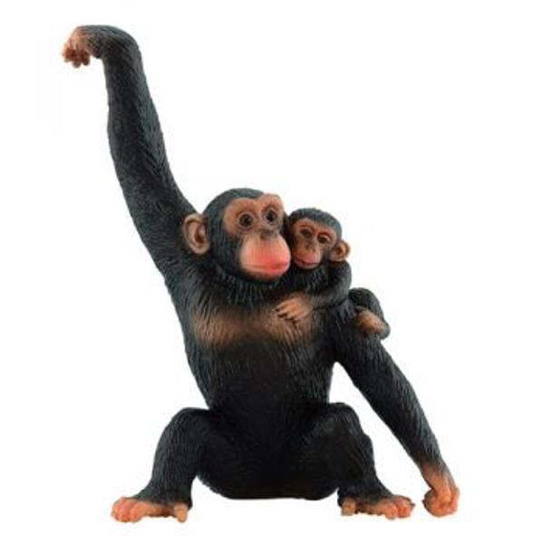 Caracteristici    Figurina jucarie reprezentand un cimpanzeu cu puiul sau    Detalii foarte asemanatoare cu cele reale    li stylelist-style-type