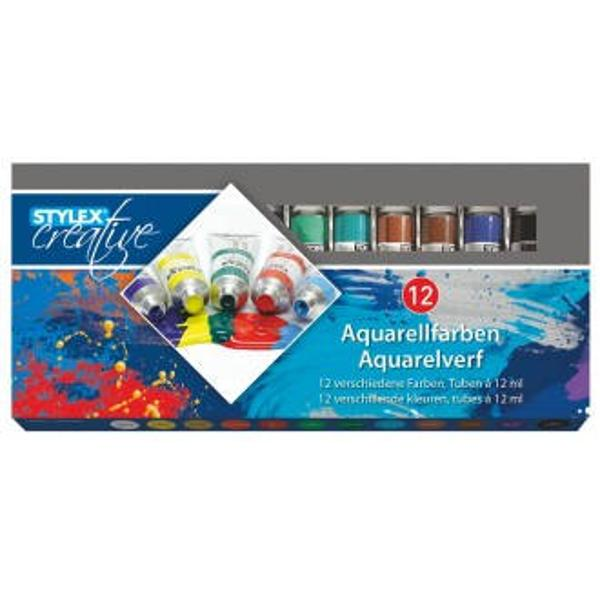 Acuarele pe baza de apa Toppoint 12 culori Continut 12 tuburi x12 ml
