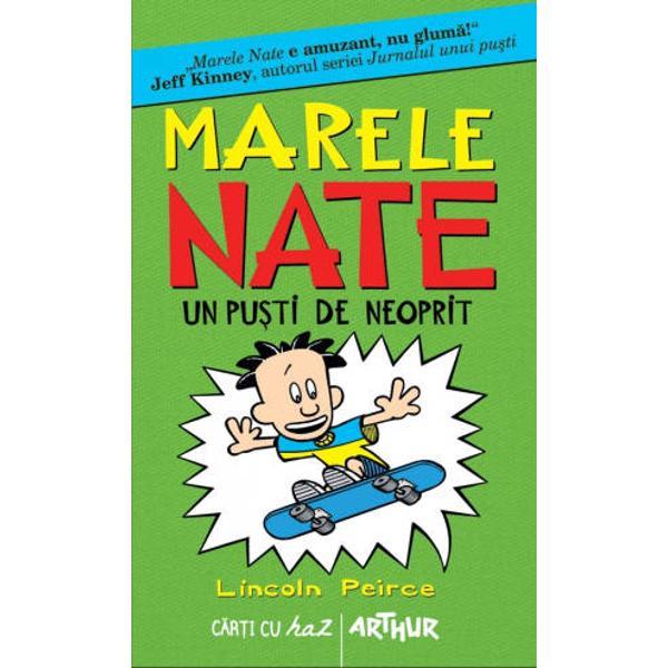 Marele Nate este intaiul intre pusti Pentru fanii seriei Jurnalul unui pusti iata&131;-l pe Nate capul na&131;zbatiilor nevinovate si cu siguranta&131; elevul certat cu profiiNate e vedeta grupului de cercetasi pana&131; cand se inscrie Artur - alias Domnul Perfectiune Acum Nate e pe locul doi Iar cu Artur nu-i de joaca&131;Va castiga Nate marele premiu Sau va esua lamentabilNu rata volumul 4 din Marele Nate Totul sau nimic In curand la Editura Arthur