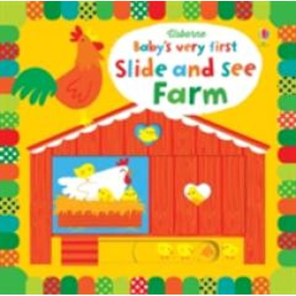 An engaging interactive board book specially designed for very young children full of vivid colours stylish illustrations and friendly farm animals Simple slider mechanisms allow the pictures to be transformed as a monkey swings through the trees a fish changes its spots and more