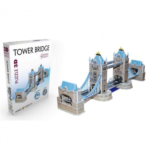 Noriel Puzzle 3D - Tower BridgeCreeaz&259; replici fantastice ale unora dintre cele mai frumoase &537;i mai celebre cl&259;diri&206;mbin&259; piesele realizate din spum&259; poliuretanic&259; &537;i construie&537;te singur un model de invidiatNumar de piese 41