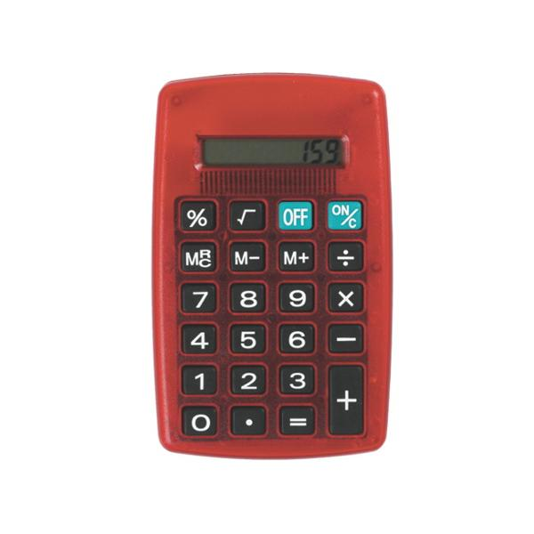 Calculator 8 digitiIdeal pentru scoala si birouFunctioneaza cu baterii Are baterii incluseFormat 7 x 115 cmFunctii de baza radicali procent
